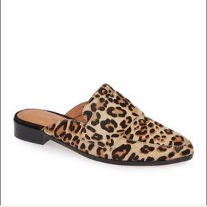 Halogen | NEW Leopard Print Genuine Calf Hair Mule